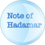 BUTTON NOTE OF HADAMAR